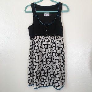 Floreat Dots and Pleats Mini Dress